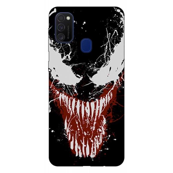 Husa Silicon Soft Upzz Print Samsung Galaxy M21 Model Monster imagine itelmobile.ro 2021