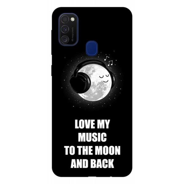 Husa Silicon Soft Upzz Print Samsung Galaxy M21 Model Music imagine itelmobile.ro 2021