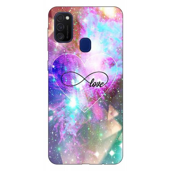 Husa Silicon Soft Upzz Print Samsung Galaxy M21 Model Neon Love imagine itelmobile.ro 2021