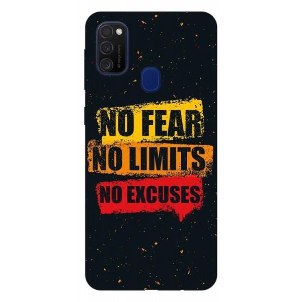 Husa Silicon Soft Upzz Print Samsung Galaxy M21 Model No Fear imagine itelmobile.ro 2021