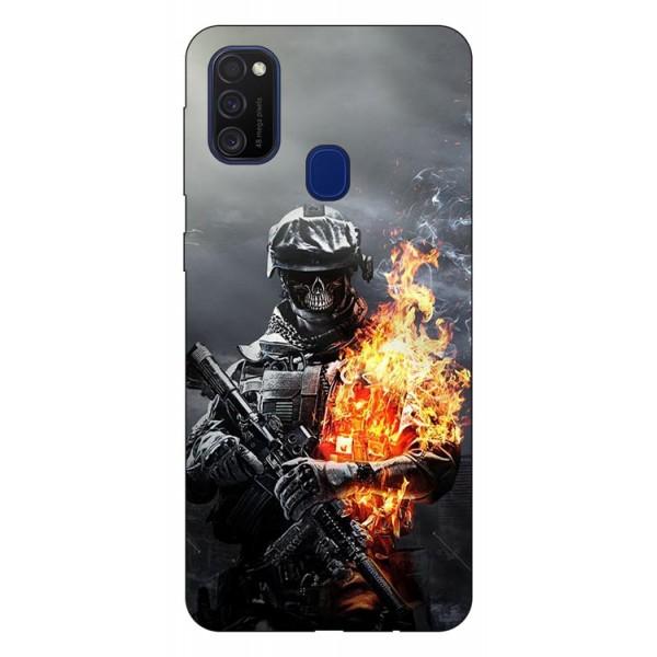 Husa Silicon Soft Upzz Print Samsung Galaxy M21 Model Soldier imagine itelmobile.ro 2021