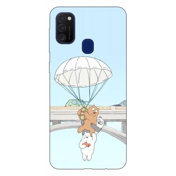 Husa Silicon Soft Upzz Print Samsung Galaxy M21 Model Three Bears imagine itelmobile.ro 2021