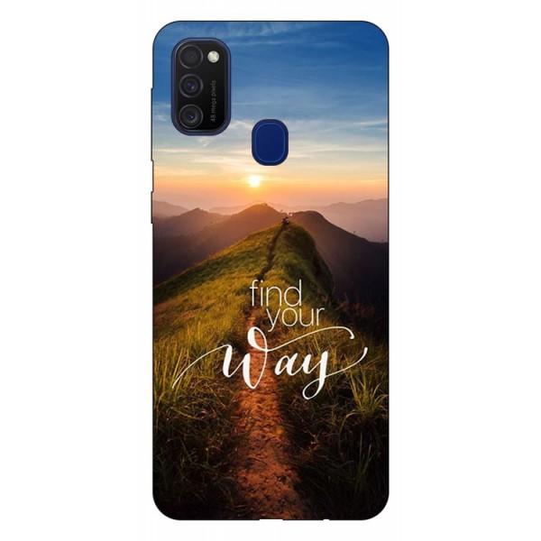 Husa Silicon Soft Upzz Print Samsung Galaxy M21 Model Way imagine itelmobile.ro 2021