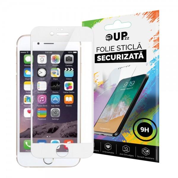 Folie Sticla 3d 0.3mm Full Cover iPhone 7 Alba imagine itelmobile.ro 2021