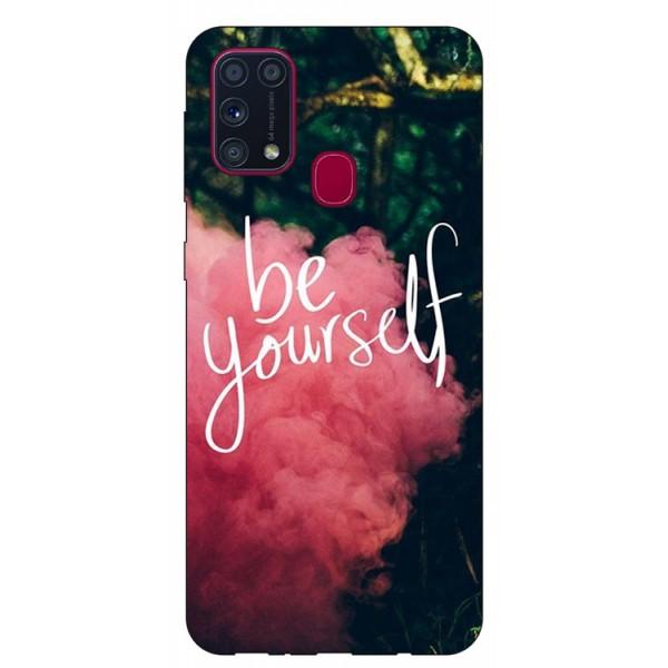 Husa Silicon Soft Upzz Print Samsung Galaxy M31 Model Be Yourself imagine itelmobile.ro 2021