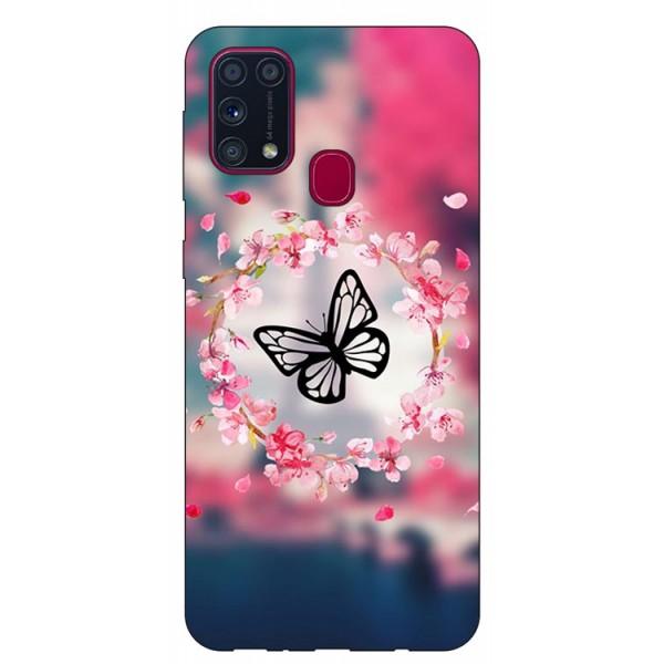 Husa Silicon Soft Upzz Print Samsung Galaxy M31 Model Butterfly imagine itelmobile.ro 2021