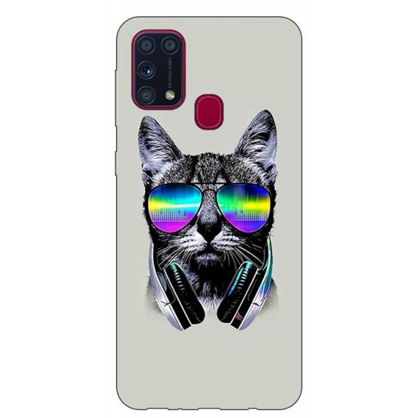Husa Silicon Soft Upzz Print Samsung Galaxy M31 Model Cat imagine itelmobile.ro 2021