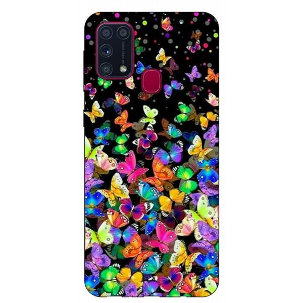 Husa Silicon Soft Upzz Print Samsung Galaxy M31 Model Colorature imagine itelmobile.ro 2021