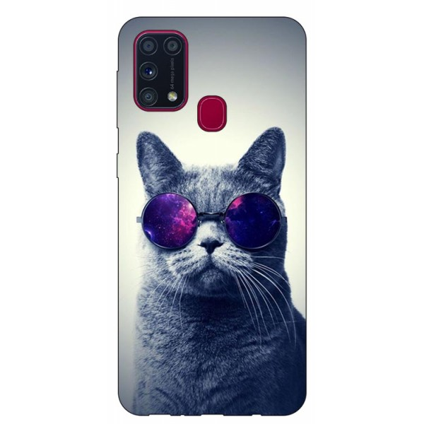 Husa Silicon Soft Upzz Print Samsung Galaxy M31 Model Cool Cat imagine itelmobile.ro 2021