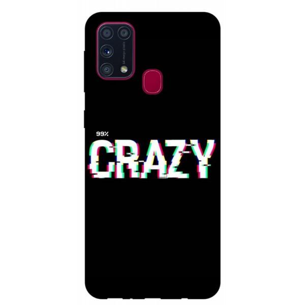 Husa Silicon Soft Upzz Print Samsung Galaxy M31 Model Crazy imagine itelmobile.ro 2021