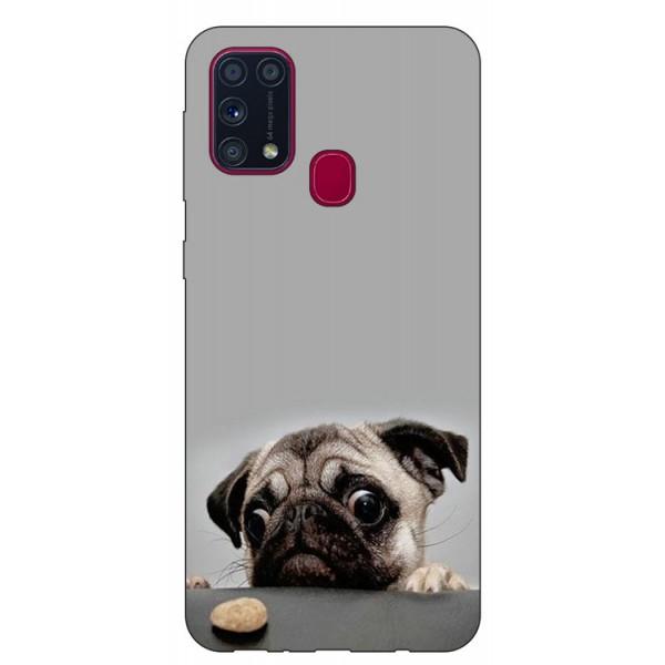 Husa Silicon Soft Upzz Print Samsung Galaxy M31 Model Dog imagine itelmobile.ro 2021