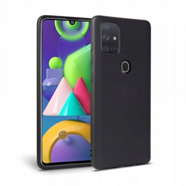 Husa Premium Upzz Liquid Silicon Pentru Samsung Galaxy M21 Cu Invelis Alcantara La Interior , Negru imagine itelmobile.ro 2021