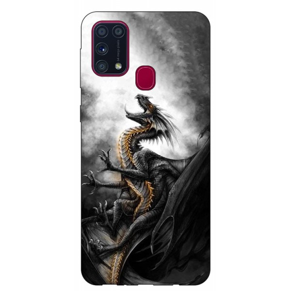 Husa Silicon Soft Upzz Print Samsung Galaxy M31 Model Dragon 1 imagine itelmobile.ro 2021