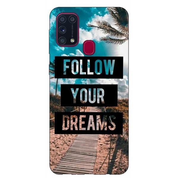 Husa Silicon Soft Upzz Print Samsung Galaxy M31 Model Dreams imagine itelmobile.ro 2021