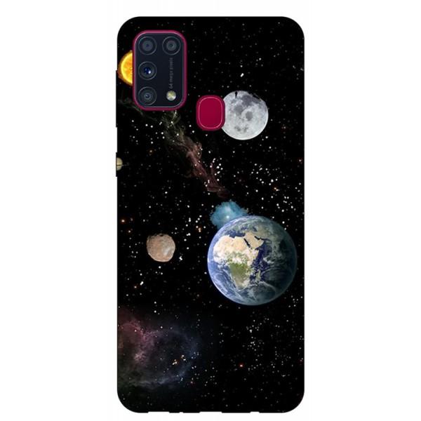 Husa Silicon Soft Upzz Print Samsung Galaxy M31 Model Earth imagine itelmobile.ro 2021