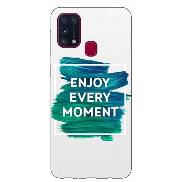 Husa Silicon Soft Upzz Print Samsung Galaxy M31 Model Enjoy imagine itelmobile.ro 2021