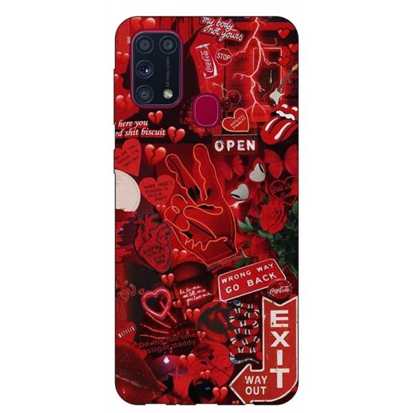 Husa Silicon Soft Upzz Print Samsung Galaxy M31 Model Exit imagine itelmobile.ro 2021