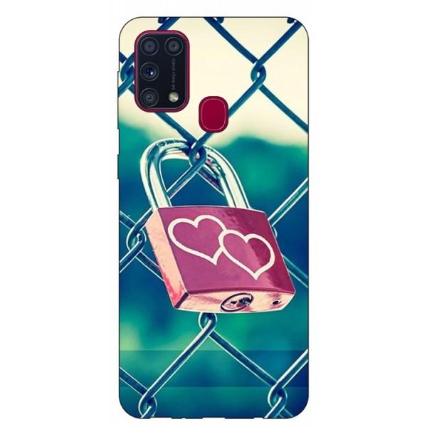 Husa Silicon Soft Upzz Print Samsung Galaxy M31 Model Heart Lock imagine itelmobile.ro 2021