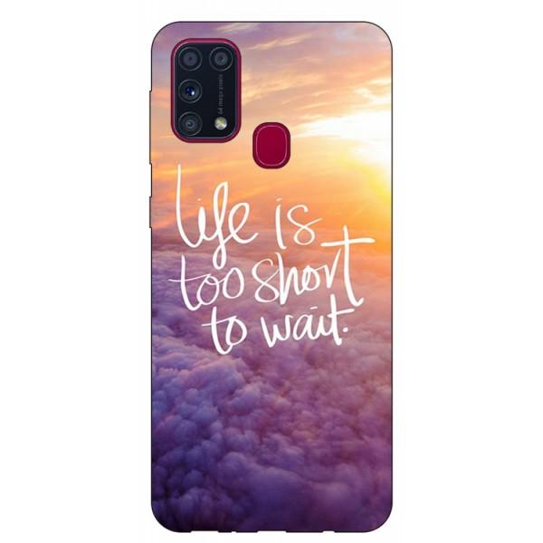 Husa Silicon Soft Upzz Print Samsung Galaxy M31 Model Life imagine itelmobile.ro 2021