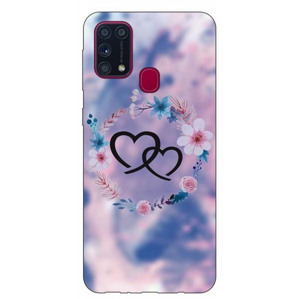 Husa Silicon Soft Upzz Print Samsung Galaxy M31 Model Love imagine itelmobile.ro 2021