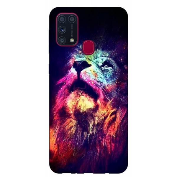 Husa Silicon Soft Upzz Print Samsung Galaxy M31 Model Neon Lion imagine itelmobile.ro 2021