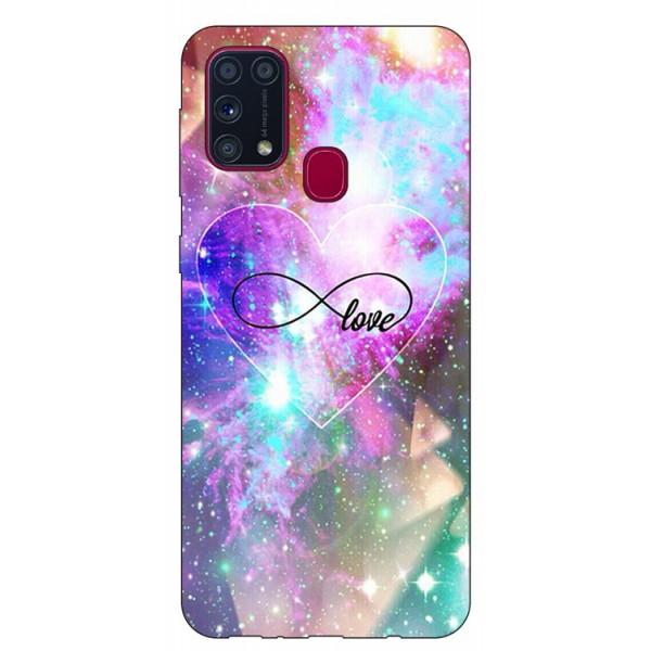 Husa Silicon Soft Upzz Print Samsung Galaxy M31 Model Neon Love imagine itelmobile.ro 2021