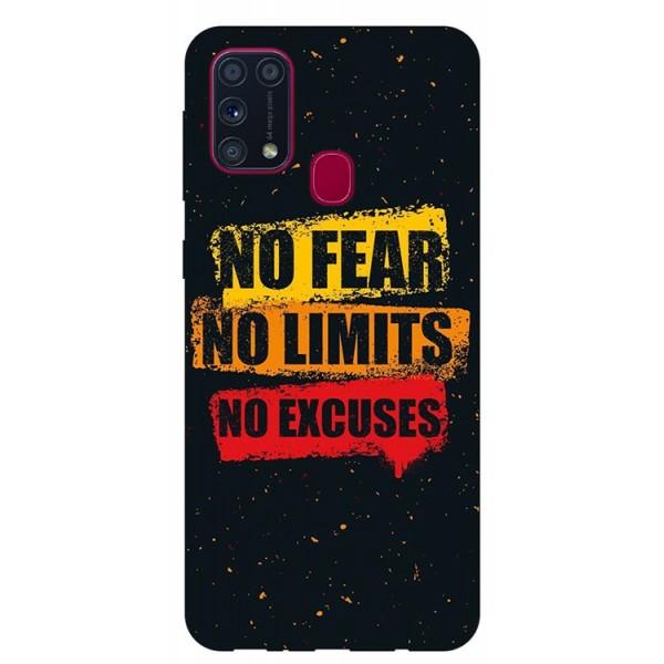 Husa Silicon Soft Upzz Print Samsung Galaxy M31 Model No Fear imagine itelmobile.ro 2021
