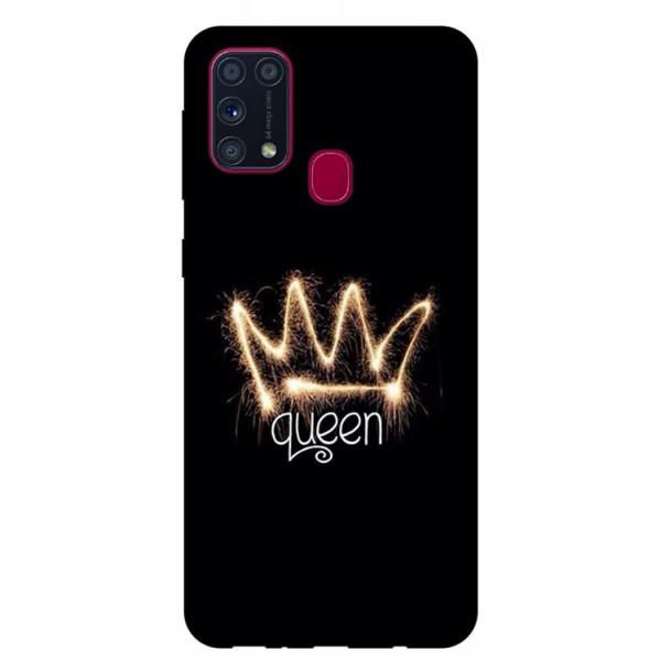 Husa Silicon Soft Upzz Print Samsung Galaxy M31 Model Queen imagine itelmobile.ro 2021