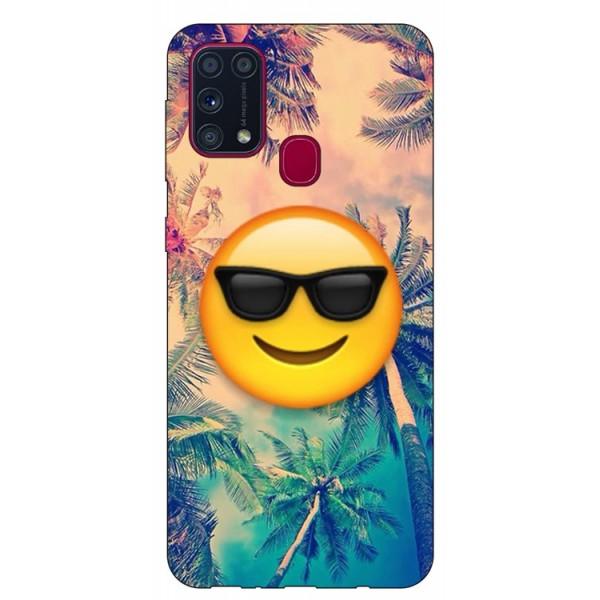 Husa Silicon Soft Upzz Print Samsung Galaxy M31 Model Smile imagine itelmobile.ro 2021
