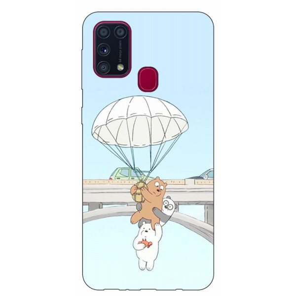 Husa Silicon Soft Upzz Print Samsung Galaxy M31 Model Three Bears imagine itelmobile.ro 2021