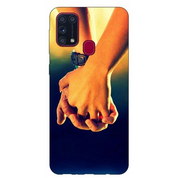 Husa Silicon Soft Upzz Print Samsung Galaxy M31 Model Together imagine itelmobile.ro 2021