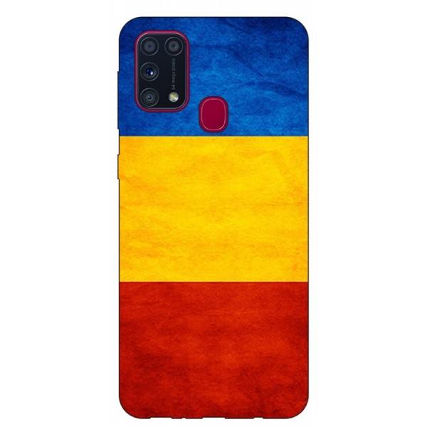 Husa Silicon Soft Upzz Print Samsung Galaxy M31 Model Tricolor imagine itelmobile.ro 2021
