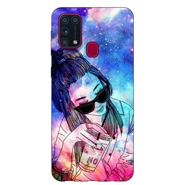 Husa Silicon Soft Upzz Print Samsung Galaxy M31 Model Universe Girl imagine itelmobile.ro 2021