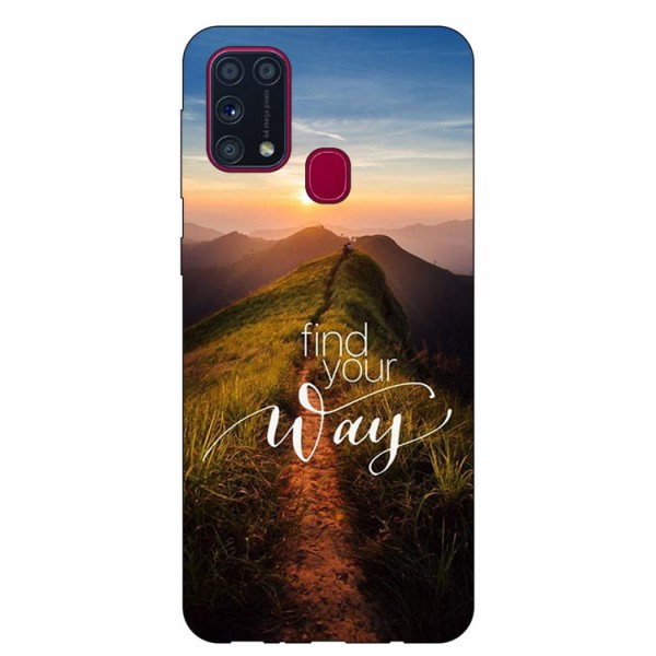 Husa Silicon Soft Upzz Print Samsung Galaxy M31 Model Way imagine itelmobile.ro 2021