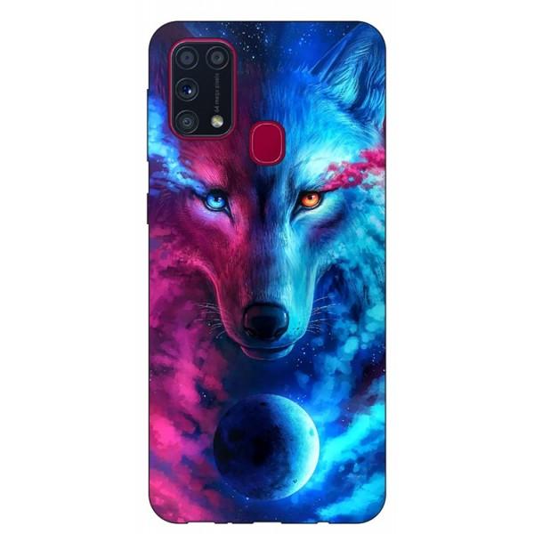 Husa Silicon Soft Upzz Print Samsung Galaxy M31 Model Wolf imagine itelmobile.ro 2021