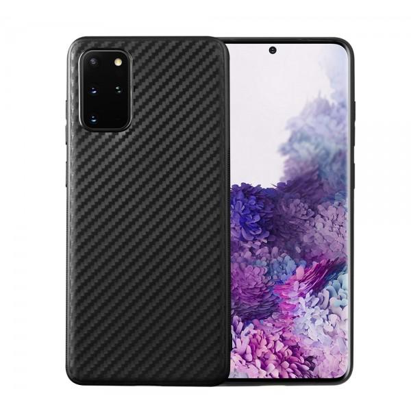 Husa Spate Premium Upzz Fiber Compatibila Cu Samsung Galaxy S20 Ultra ,negru imagine itelmobile.ro 2021