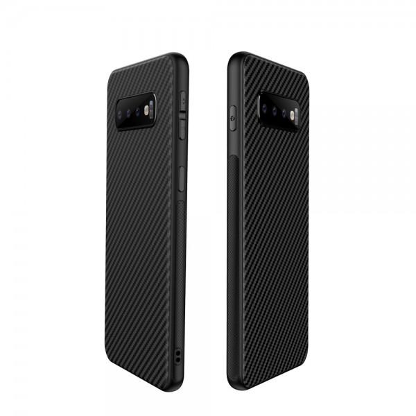 Husa Spate Upzz Carbon Fiber Samsung Galaxy S10e Neagra imagine itelmobile.ro 2021