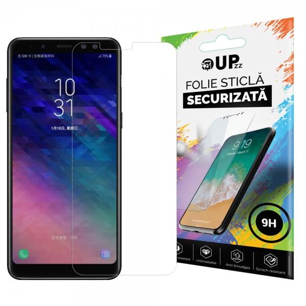 Folie Sticla Securizata 9h Upzz Samsung A8 2018 Transparenta imagine itelmobile.ro 2021