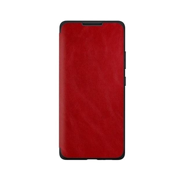 Husa Premium Flip Book Upzz Leather Samsung Galaxy A21 , Piele Ecologica, Rosu imagine itelmobile.ro 2021