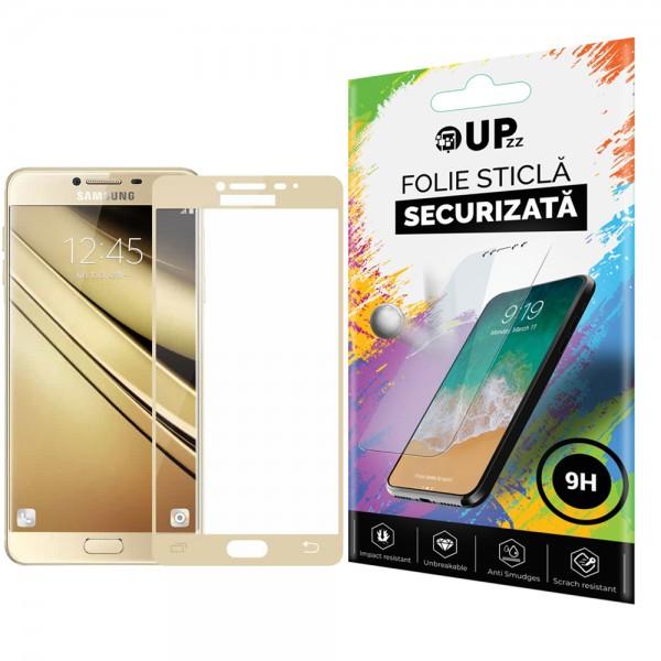 Folie Sticla Full Cover Upzz Samsung A7 2017 Gold imagine itelmobile.ro 2021