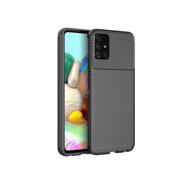 Husa Premium Upzz Rugged Carbon New Auto Focus Samsung Galaxy Note 10 Lite , Negru imagine itelmobile.ro 2021
