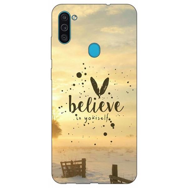 Husa Silicon Soft Upzz Print Samsung Galaxy M11 Believe imagine itelmobile.ro 2021