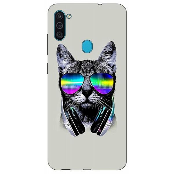 Husa Silicon Soft Upzz Print Samsung Galaxy M11 Cat imagine itelmobile.ro 2021