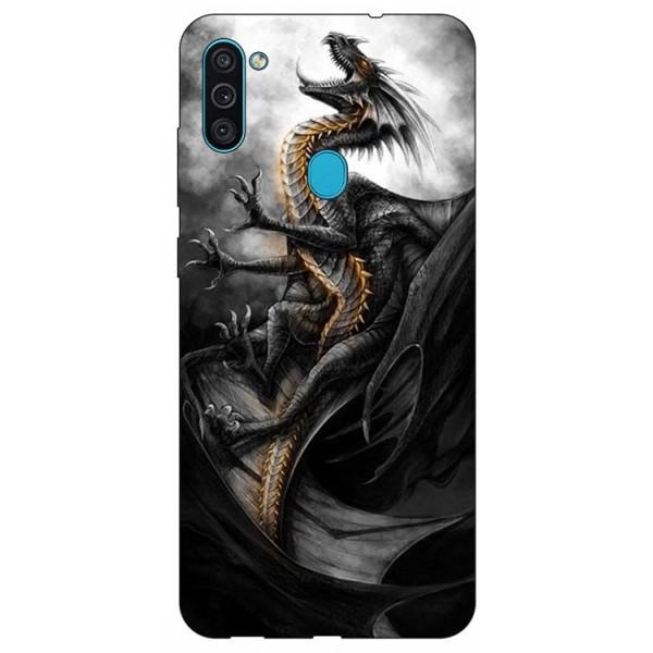 Husa Silicon Soft Upzz Print Samsung Galaxy M11 Dragon1 imagine itelmobile.ro 2021