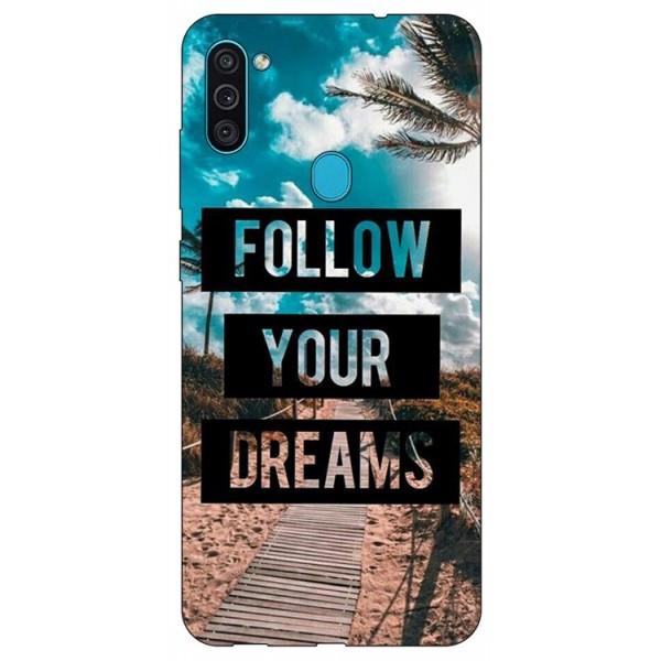 Husa Silicon Soft Upzz Print Samsung Galaxy M11 Dreams imagine itelmobile.ro 2021
