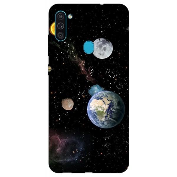 Husa Silicon Soft Upzz Print Samsung Galaxy M11 Earth imagine itelmobile.ro 2021