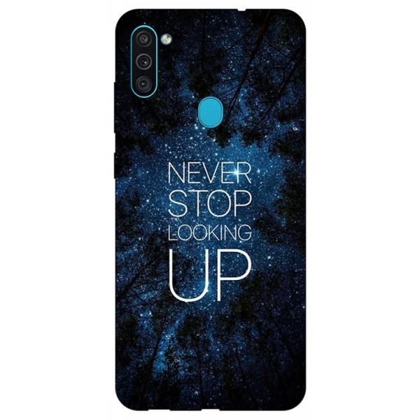 Husa Silicon Soft Upzz Print Samsung Galaxy M11 Never Stop imagine itelmobile.ro 2021