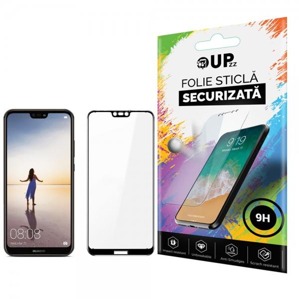 Folie Sticla Full Cover 3d Upzz Glass Huawei P20 Lite Negru imagine itelmobile.ro 2021