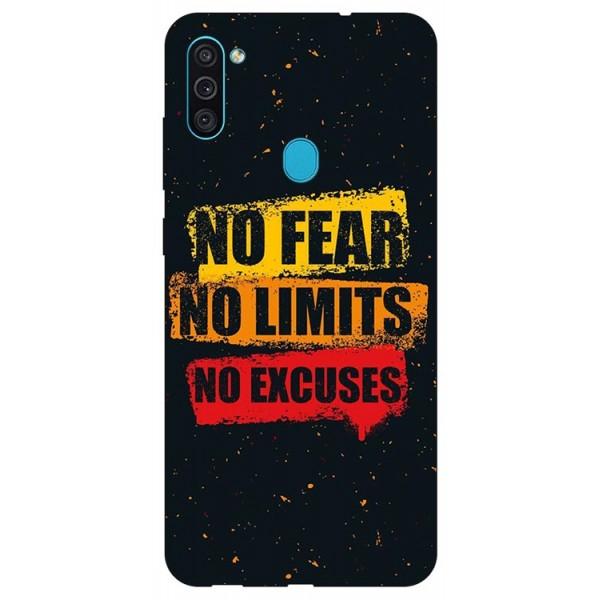 Husa Silicon Soft Upzz Print Samsung Galaxy M11 No Fear imagine itelmobile.ro 2021