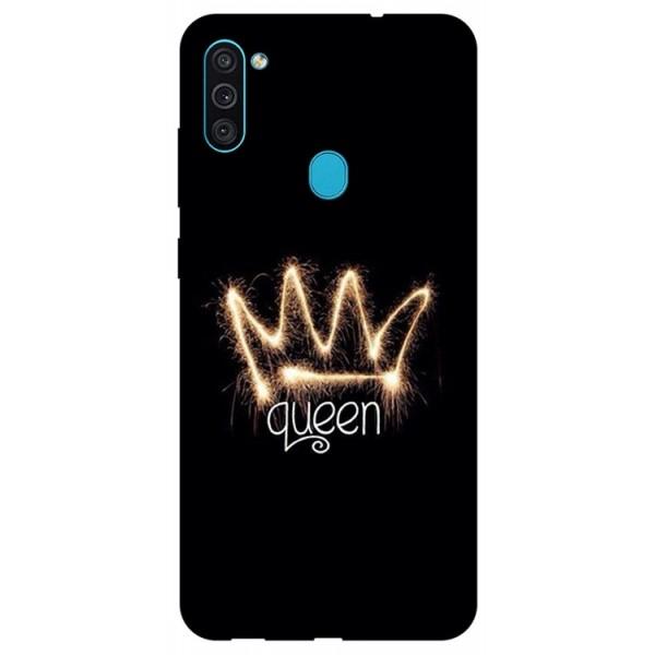 Husa Silicon Soft Upzz Print Samsung Galaxy M11 Queen imagine itelmobile.ro 2021